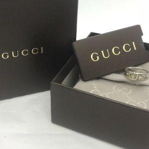 Gucci Interlocking GG Ring Sterling Silver